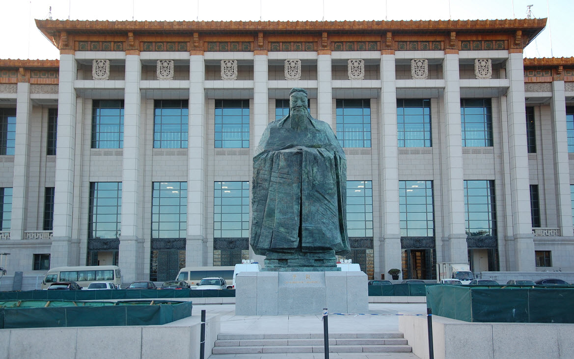 传说中的天安门广场孔子雕像