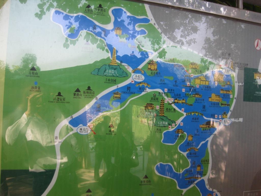 西湖景点地图高清版