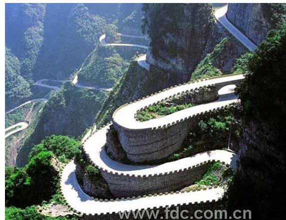 庐山手绘建筑风景
