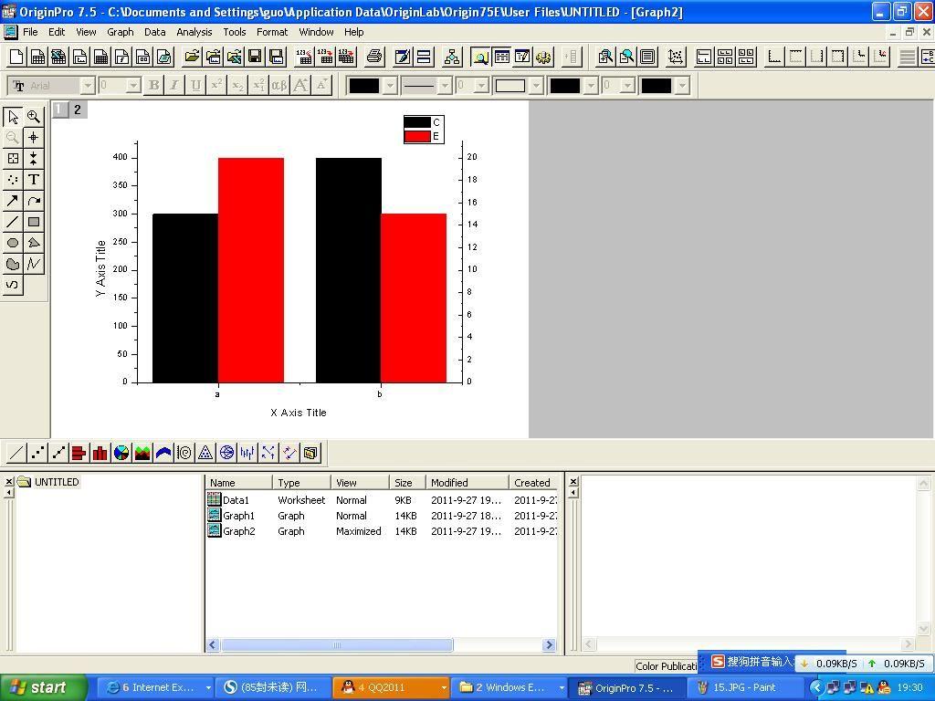 科学网 使用origin7.5软件制作双y轴柱形图的方法 郭春锋的博文