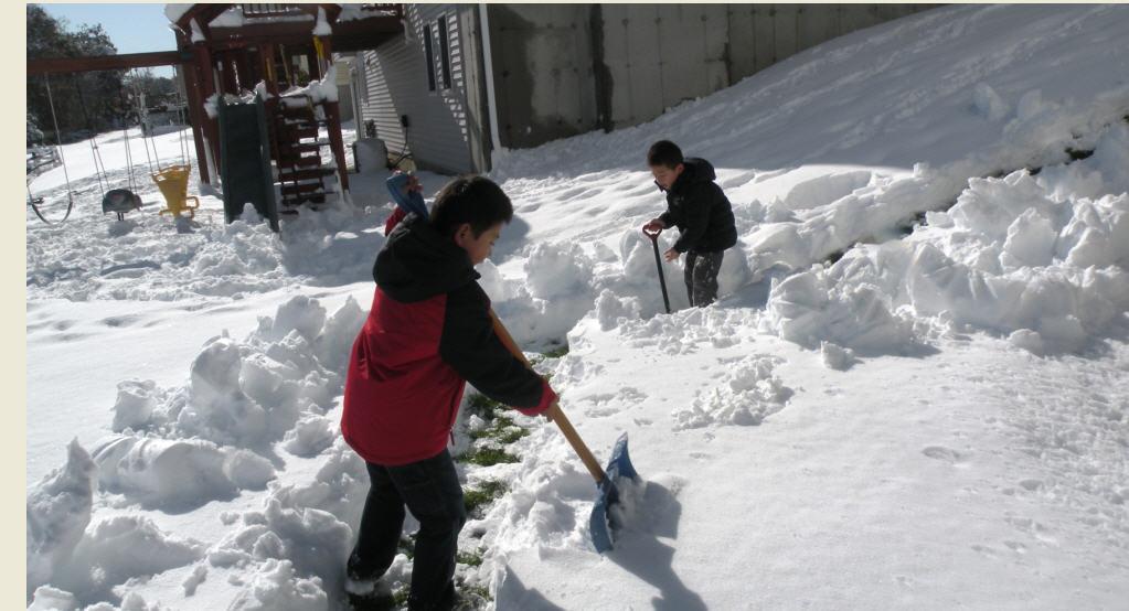 科学网 孩子扫雪,健身强体,其乐无穷 黄安年的博文图片