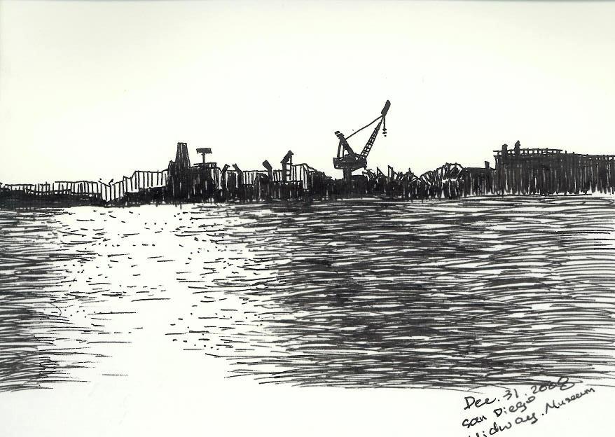 科学网—圣地亚哥中途岛战舰海港1