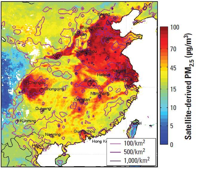中国雾霾实时分布图_我国雾霾分布图 _排行榜大全