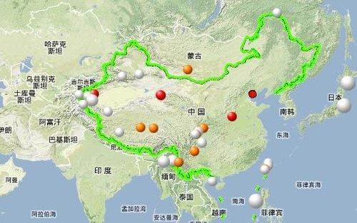 经纬度 天水地图