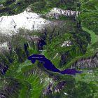 卫星图像:阿尔卑斯山东部的萨尔茨卡默古特地区