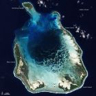卫星图像:美丽的科科斯(基林)群岛