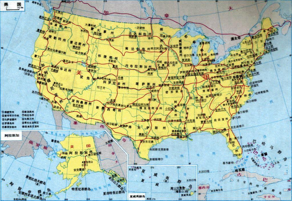 美国卫星地图,美国地图 美国地图