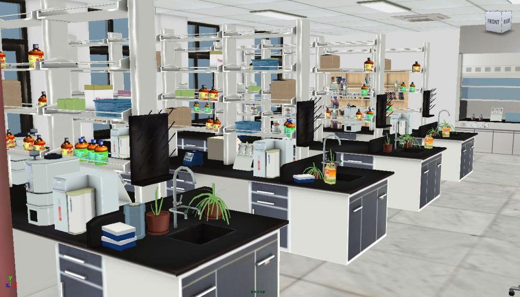 分子病理实验室虚拟场景