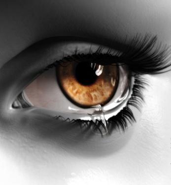 瞳孔带有风景的眼睛图片