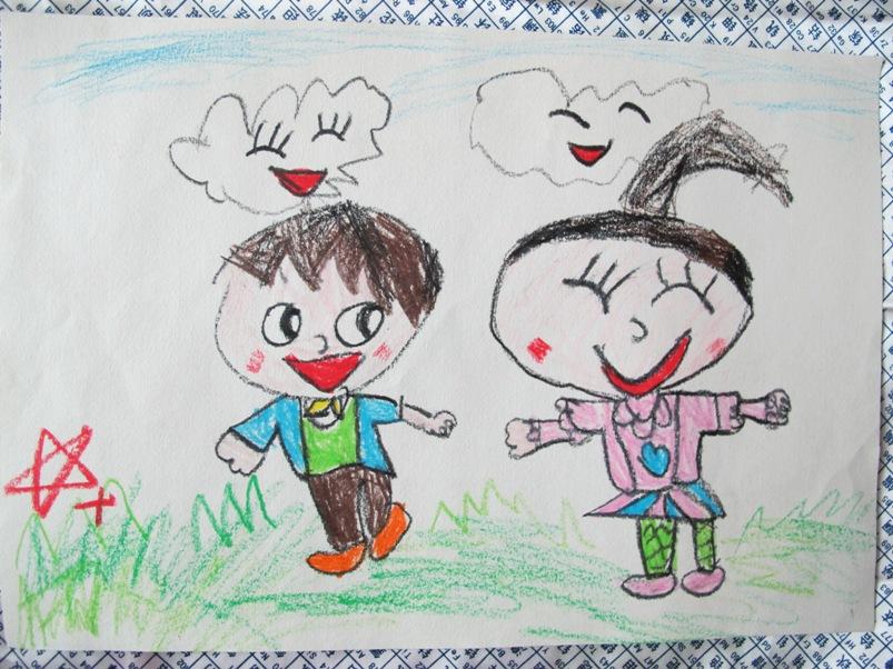 在幼儿园画的