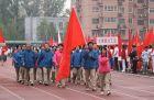 参加2012年校运会的开幕式