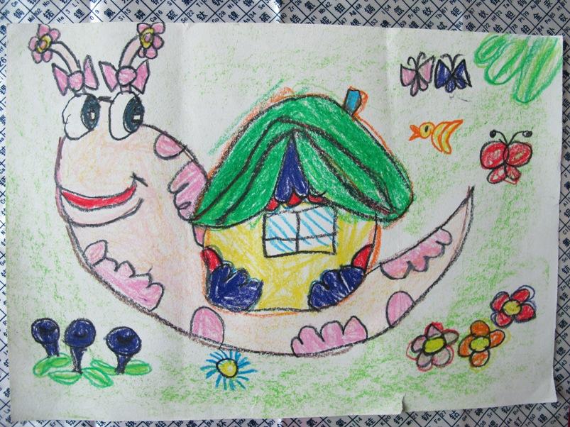 小丫头的画 蜗牛 伍新燕的博文