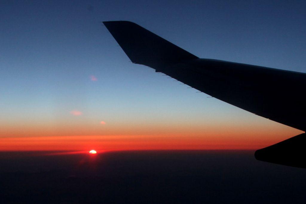 科学网—飞机上的落日