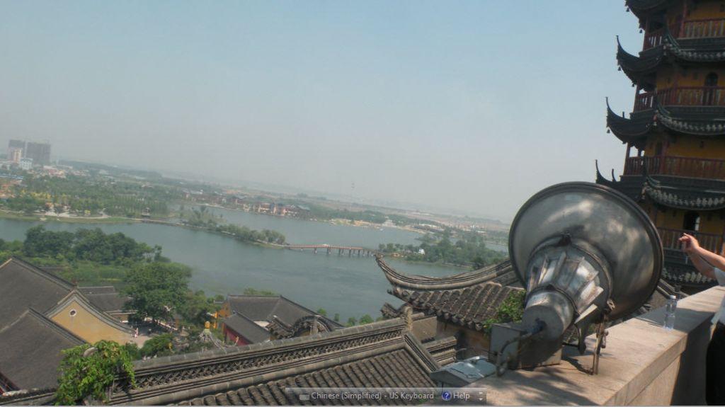 科学网—金山寺高处俯视镇江