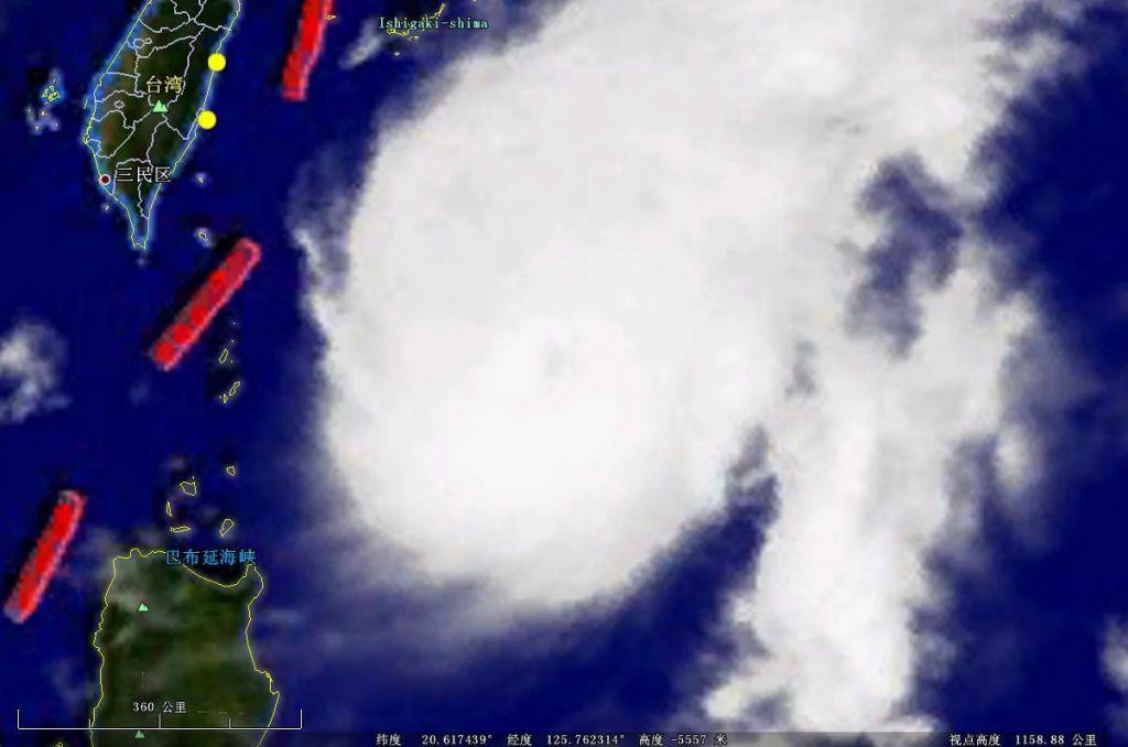 风云二号卫星云图与谷歌地球云层对比图片