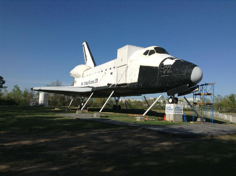 航天飞机模型,摄于约翰逊航天中心