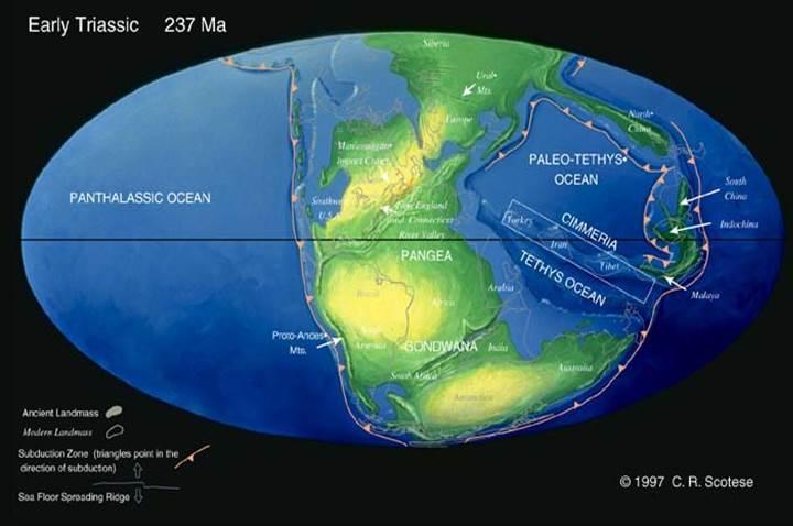 1亿5千2百万年前的地球表面