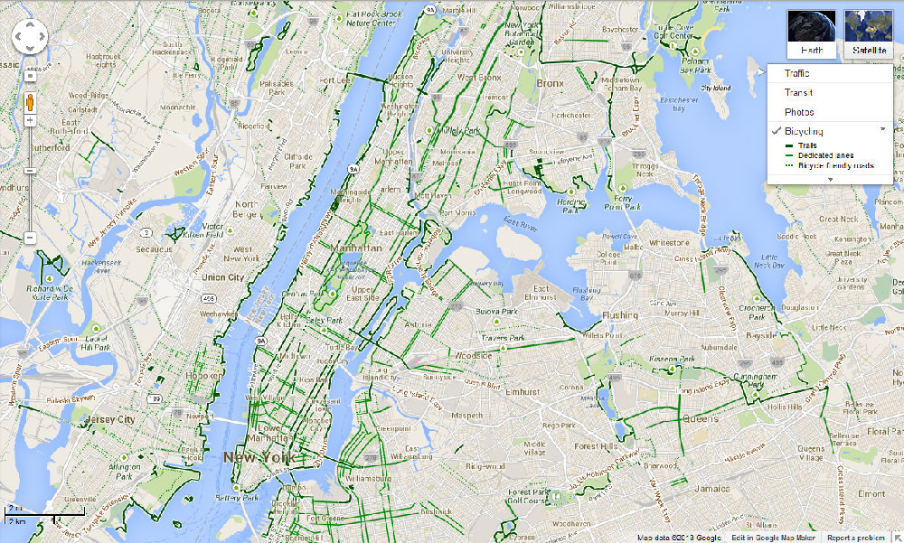 纽约自行车路线图-从地铁地图看数学模型的简单化图片