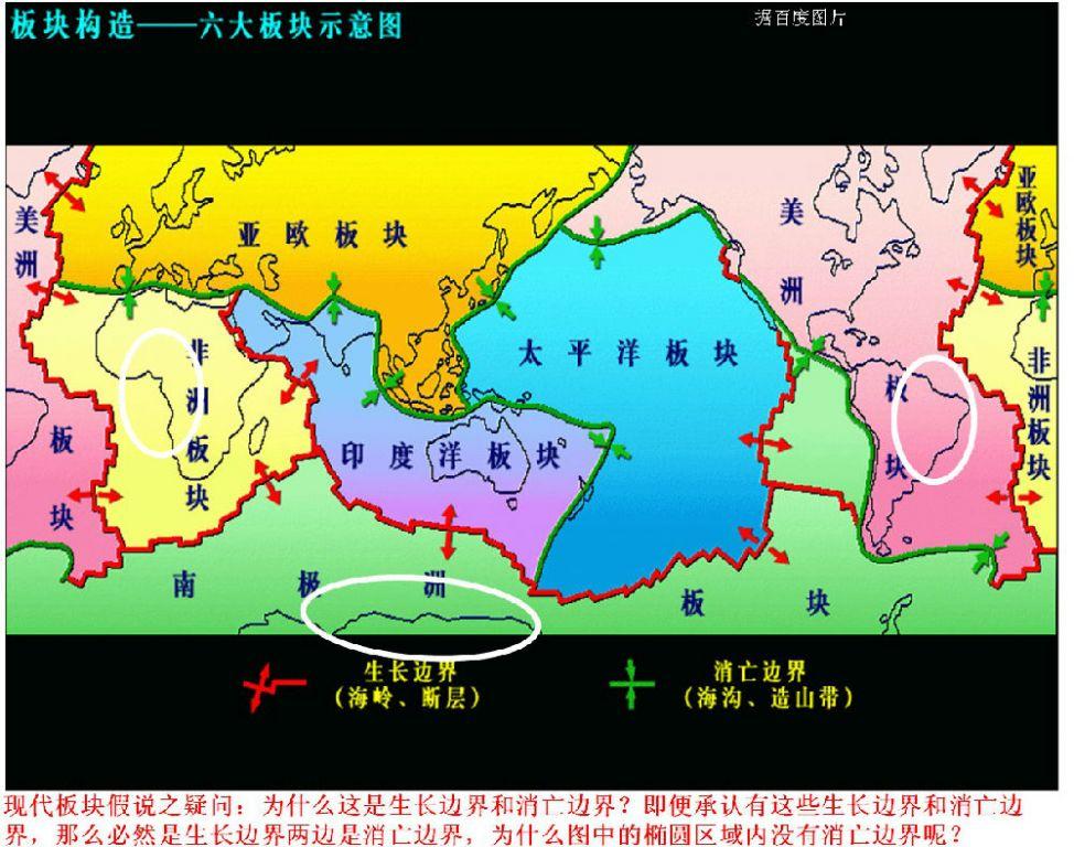 图14全球板块构造示意图(据百度图片)