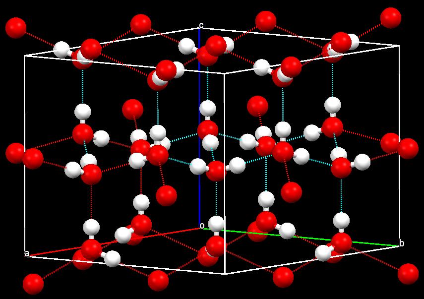 2013-12-01 18:09:38 前面的博文中我曾提及冰的晶体结构, 但没有重点说明, 此博文中我将稍详细地介绍冰的晶体结构并给出我所查到的cif文件, 以备建模使用. 水及冰的结构化学远比想象的复杂, 水的相图或许是被人们研究最多的一种, 这从冰众多的名目约略可以知道, Ih, Ic, II, III, IV, V, IX.