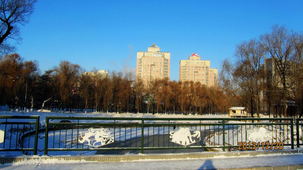 哈尔滨工业大学土木楼-哈工大的冬天挺美图片