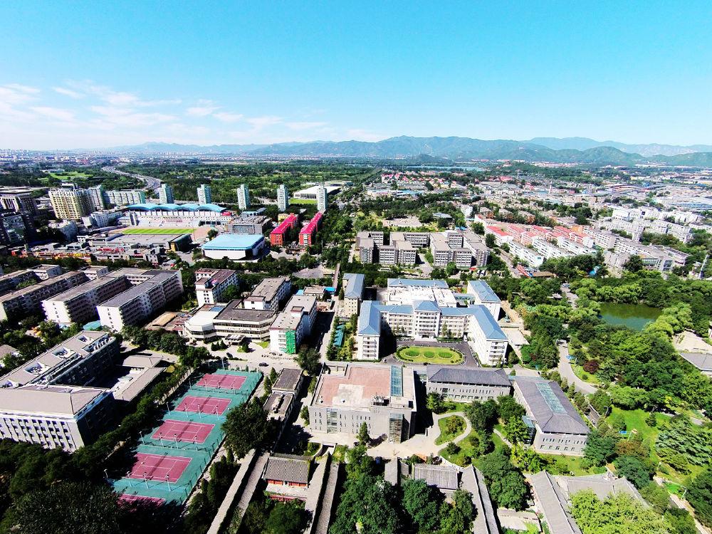 北京大学全景俯视图-中秋贺礼 鸟瞰北大的一塔湖图