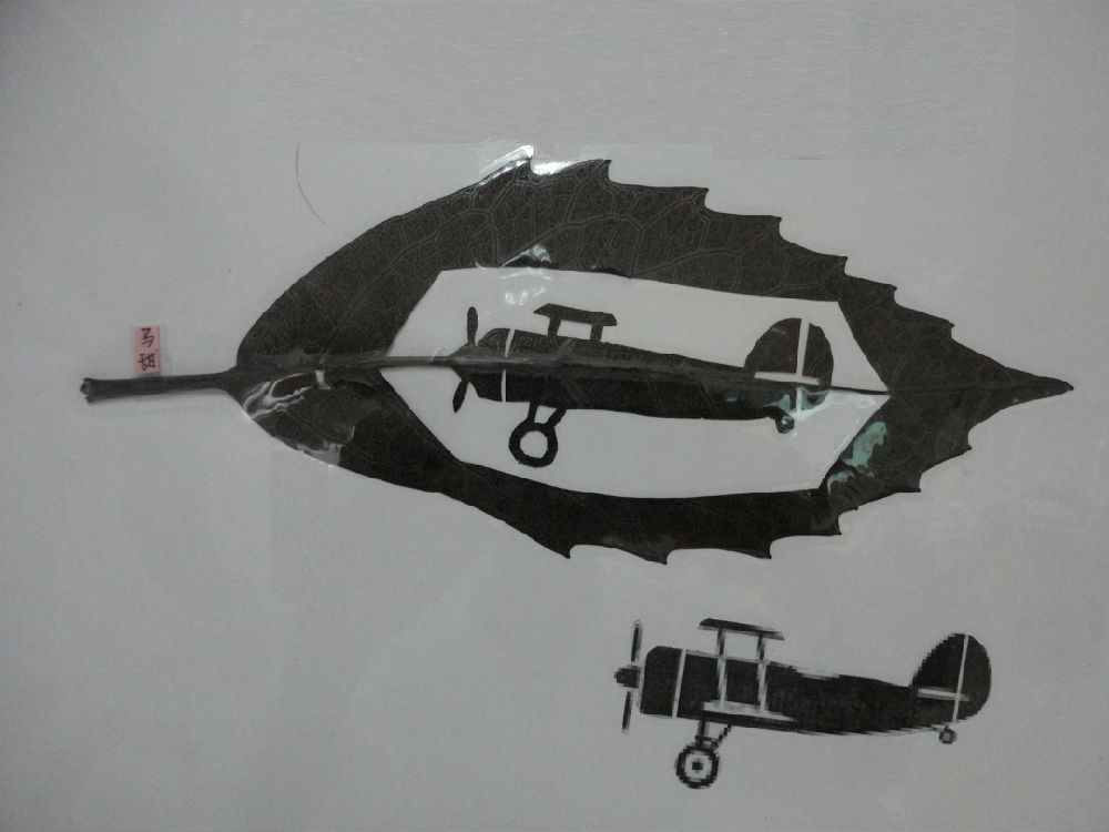 <微小飞机设计、制作>课程设计之飞机叶雕艺术