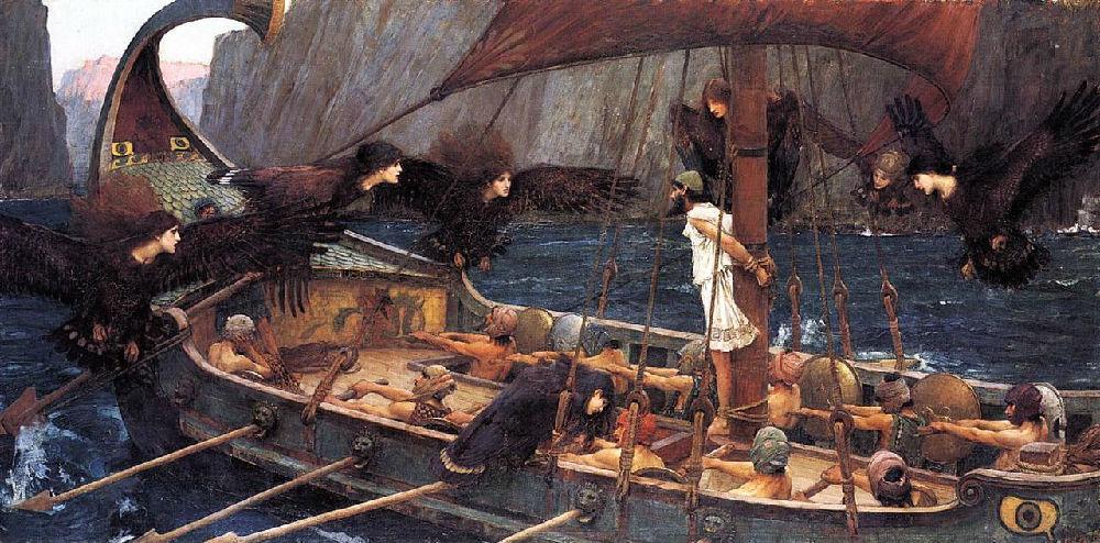 《奥德赛》插画:奥德修斯和海妖塞壬图片