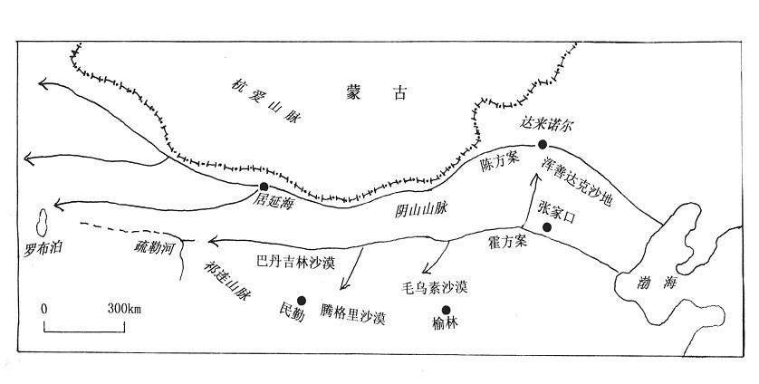 库布齐沙漠 地图