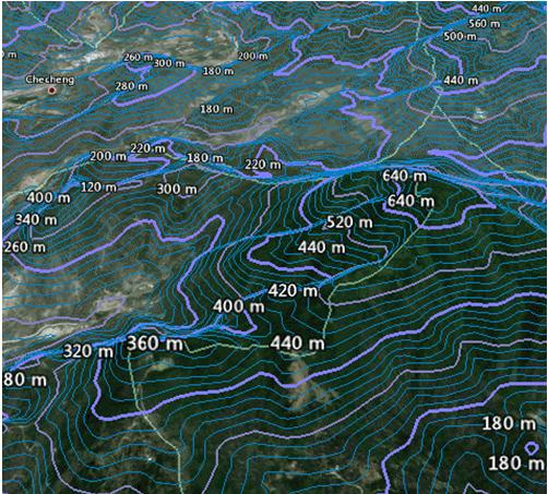 rth制作地形等高线,代替地形图