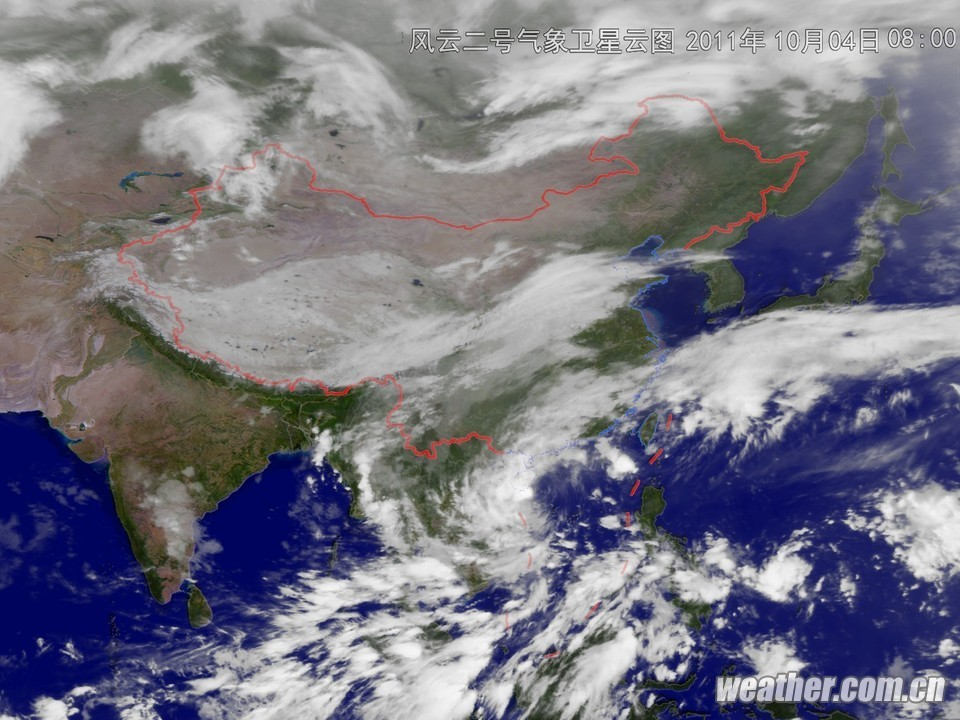 但是各地气象观测站确定的尼格中心位置却在低压云团