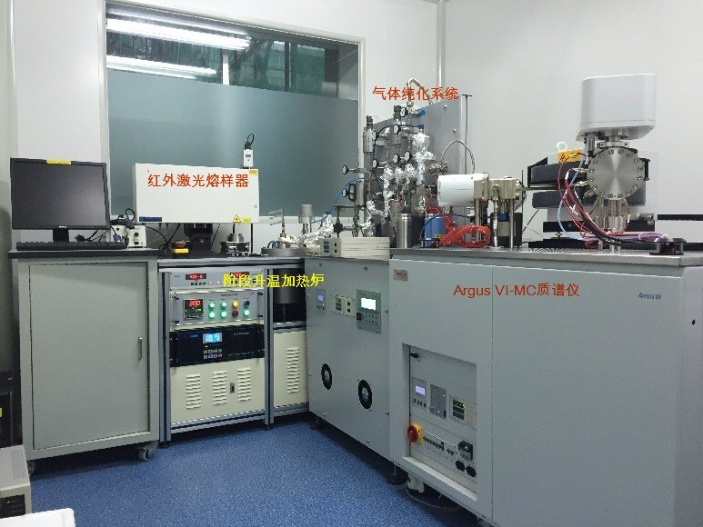 随后本实验室设计并研发了相应的双真空熔样炉和气体