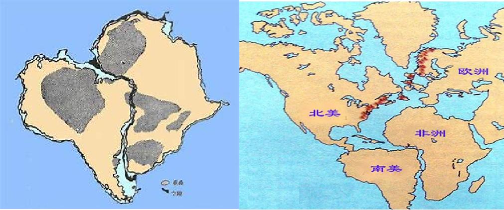 地球表面海陆分布图
