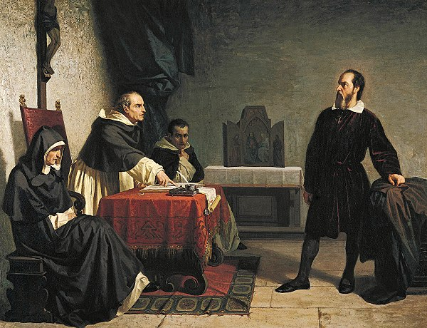 Cristiano Banti's 1857 painting Galileo facing the Roman Inquisition.jpg