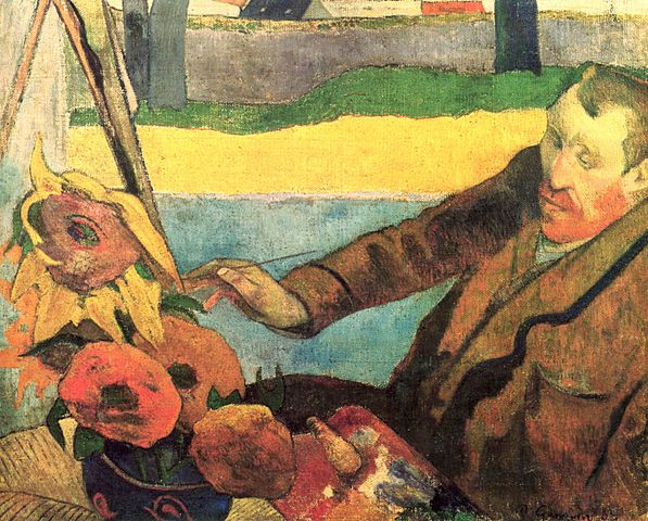 Paul Gaugin painted Van Gogh Painting Sunflowers during his time in the Yellow House.jpg