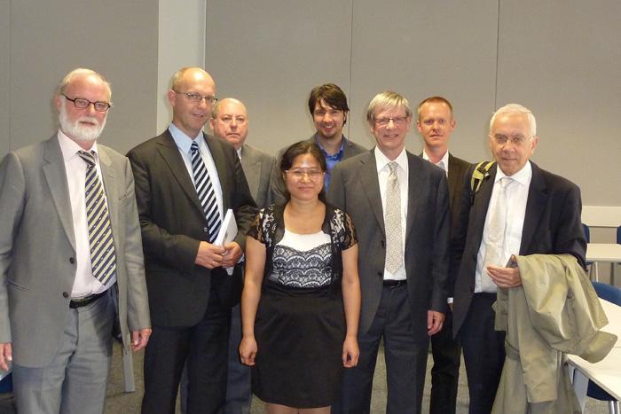 Ronald Rousseau 2011-09-02 Liu Yuxian and her doctoral jury Doctorate_Yuxian_2.jpg