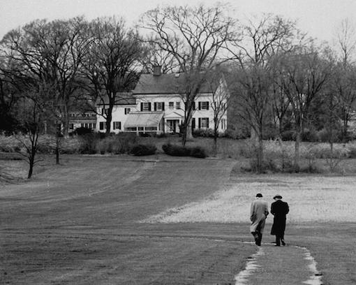 Kurt Godel, right, Albert Einstein, left, taking a walk in Princeton, 1954 22.png