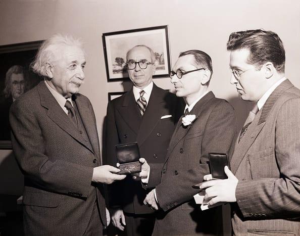 Kurt Godel (1906-1978) first Albert Einstein award Julian Schwinger 1951 22.jpg