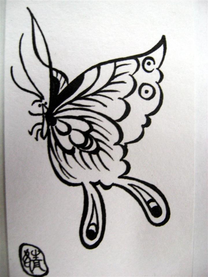 手绘:蝴蝶1图片