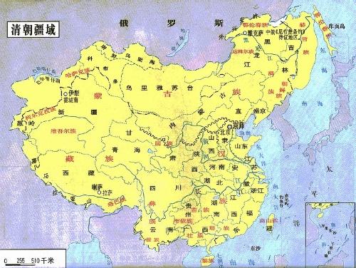 中国版图的历史演化图片