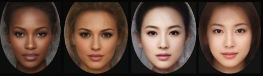 中国美女脸型采用了演员巩俐