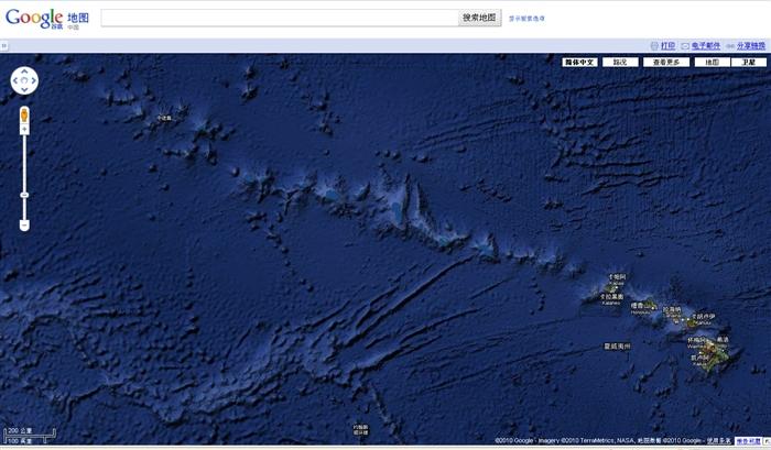 谷歌夏威夷群岛卫星地图