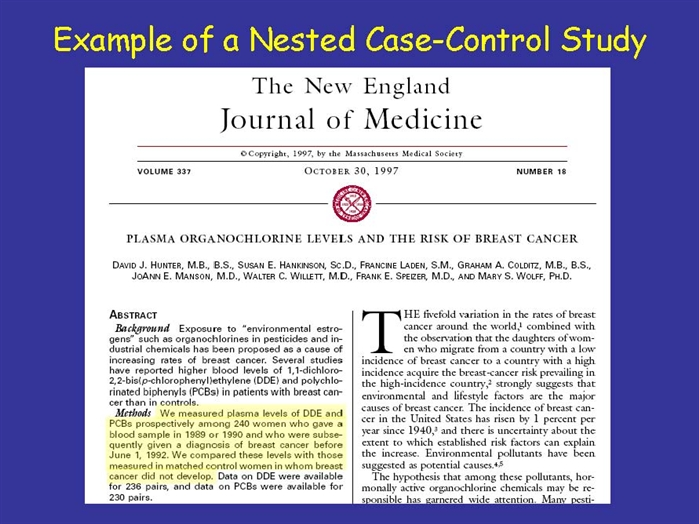 nested case control study design definition Samplingstrategies in nested case-control studies case-control study, counter-matching, design of medical study packages explicitly allow the definition of.