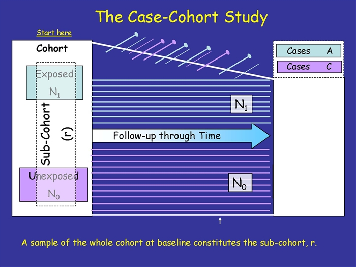 case-cohort study and nested case-control Generalized case-cohort studies, inverse probability weighting, nested case- control studies, post- stratification, stratified case-cohort studies, variance  estimation.